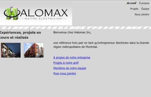 Halomax Inc. Entrepreneur électricien